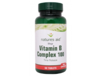 Natures Aid - Vitamin B Complex 100mg Time Release (Mega Potency) - 30 Tabs
