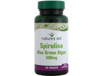 Natures Aid - Spirulina (Blue Green Algae) 500mg- 90 Tabs