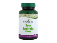 Natures Aid - Soya Lecithin (1200mg) - 90 Softgels - Helps maintain healthy cholesterol