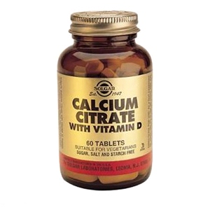 Solgar - Calcium Citrate with Vitamin D (60 Tabs)
