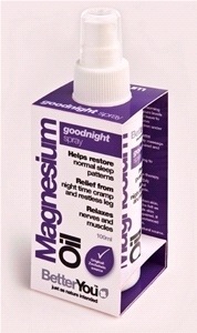 BetterYou - Magnesium Oil GoodNight Spray (100 ml) - Helps restore normal sleep patterns