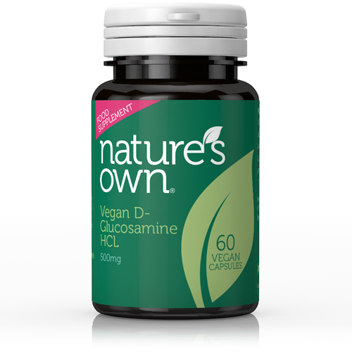 NATURE'S OWN - Glucosamine Hydrochloride:Plant-Source(Suitable for Vegans) 500mg 60 veg caps