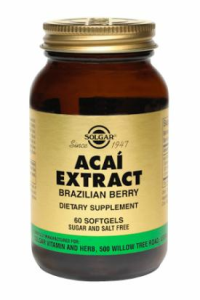 Solgar - Acai Berry Extract (60 Veg Caps & 1000mg)