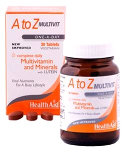 Health aid - A to Z Multivit Tablets (30 tablets)