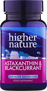 Higher Nature - Astaxanthin and Blackcurrant  vv CapsVV capsule (30) - One of the most potent natural antioxidants ever discovered