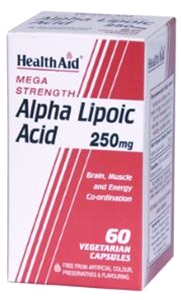 Health aid - Alpha Lipoic Acid 250mg (60 VegiCaps)