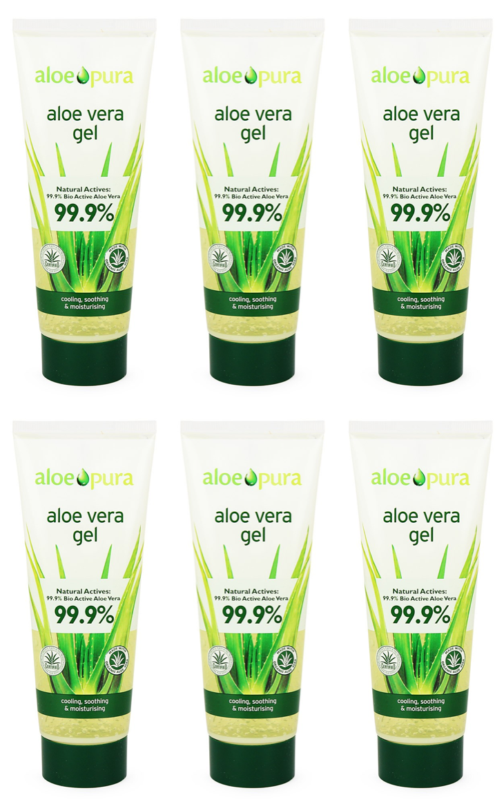 Aloe Pura - Aloe Vera Gel 100ml (Pack of 6)
