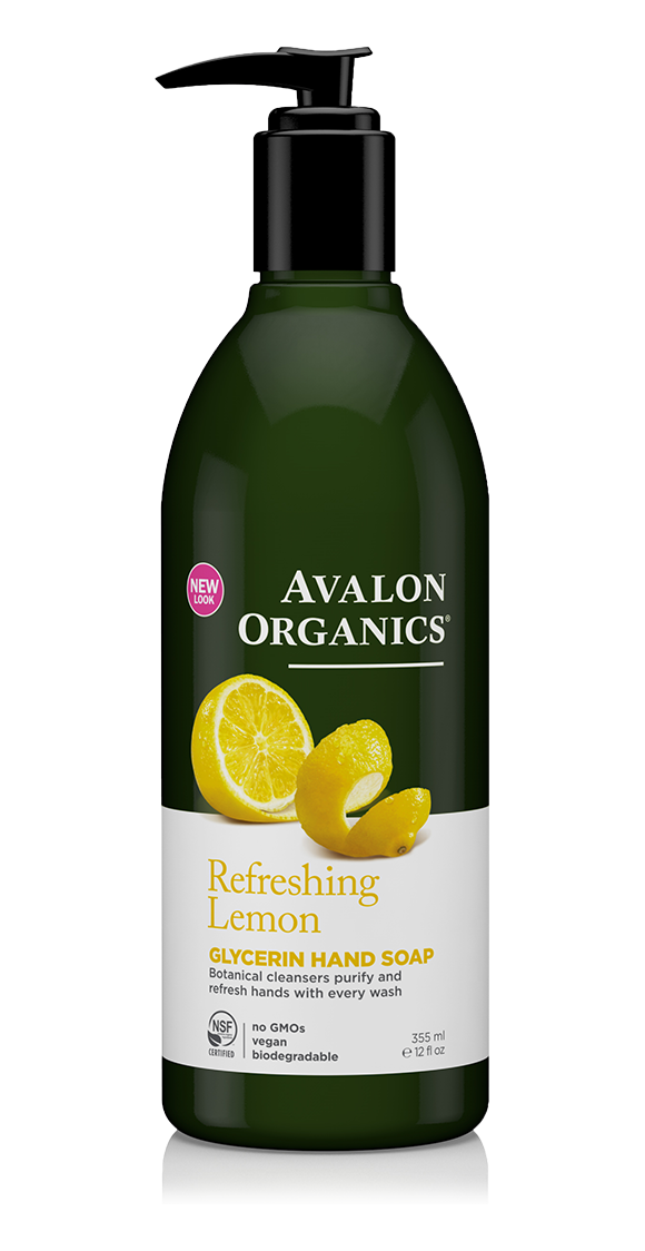 Avalon Organics - Refreshing Lemon Glycerin Hand Soap (12 oz/355 ml)