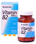Health aid - Vitamin B2 (Riboflavin) 100mg - Prolonged Release (60 tablets)