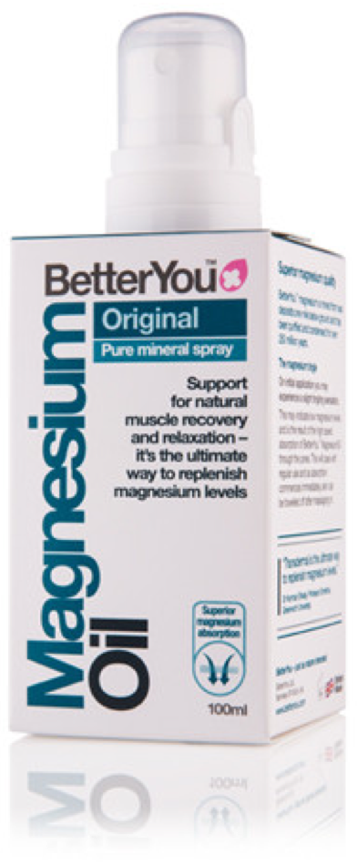 BetterYou - Magnesium Oil Original Spray (100ml) - Boosts Energy, Reduces Pain, Relaxes Muscles