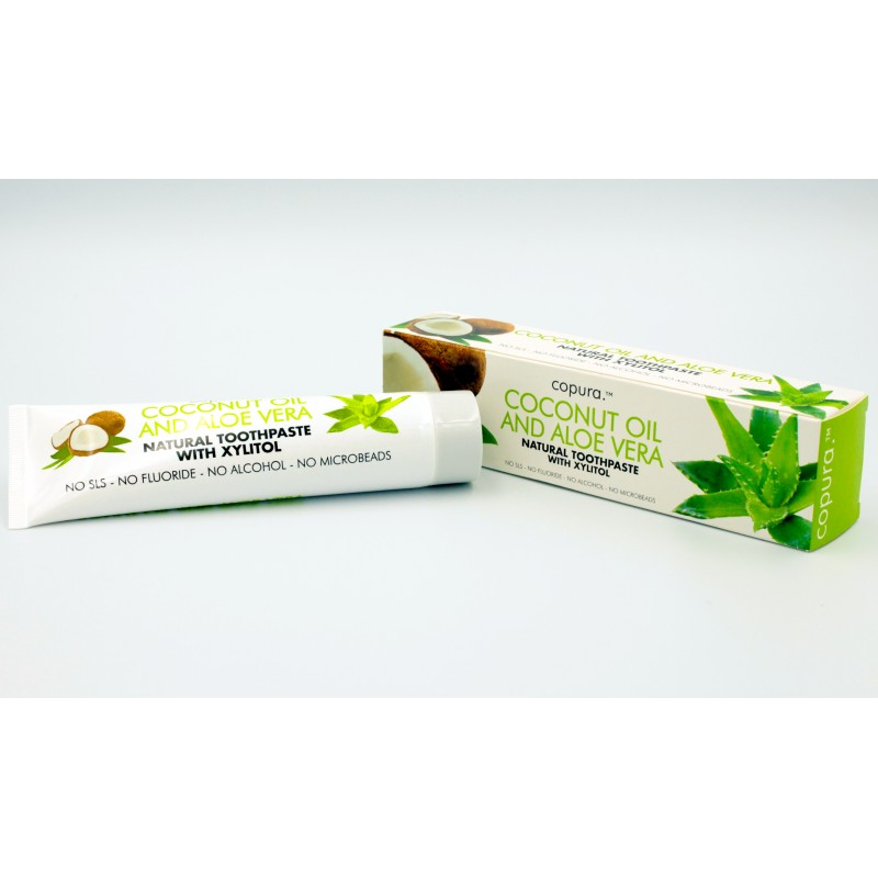 Copura - COCONUT OIL AND ALOE VERA NATURAL TOOTHPASTE WITH XYLITOL (100ML)