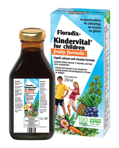 Floradix - Floradix KINDERVITAL for Children FRUITY Formula (250ml) - Liquid calcium and vitamin formula