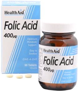 Health aid - Folic Acid 400µg (270 tablets)