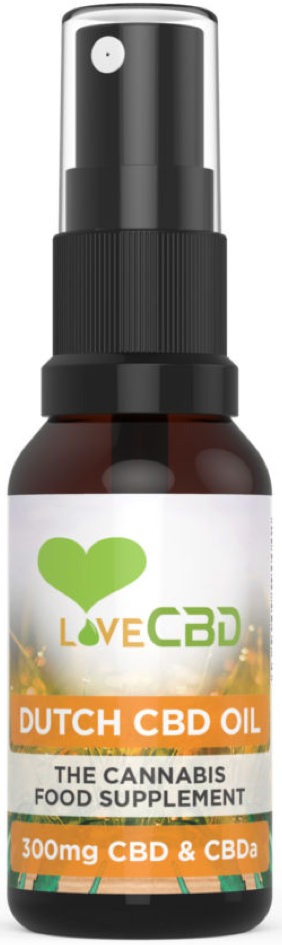 Love CBD - 300mg Dutch CBD Oil Spray (20ml)