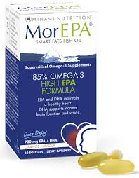 Minami Nutrition - MorEPA -fish oil (60 Softgels)  ORANGE  FLAVOUR,  One-A-Day  -  For adults
