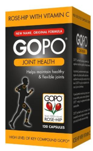 G.R. Lane - GOPO  Rosehip  extract  ... 750mg... (120 CAPS) - ONE PACK-for Arthritis & Joint Health