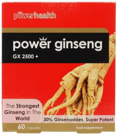 Power Health - Power Ginseng GX2500+ (60 Caps) - PANAX  KOREAN  GINSENG
