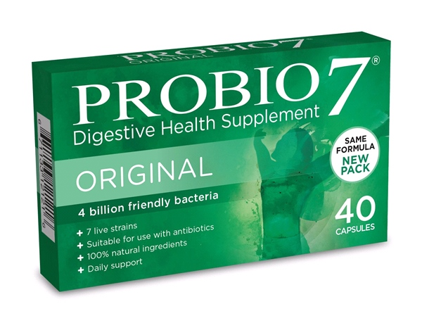 PROBIO 7 - Probio7 ( 3 x 40 Caps) - improves digestion for flatter stomach - TRIPLE PACK