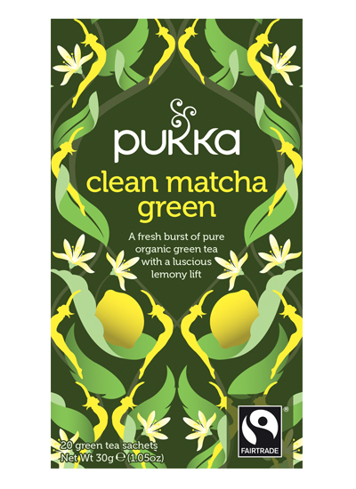 Pukka Herbal Teas - CLEAN MATCHA GREEN TEA (20 sachets)