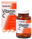 Health aid - Vitamin C 1000mg - Chewable (Orange Flavour)- (60 tablets)