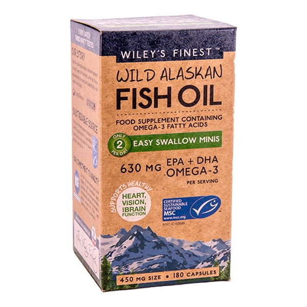 Wiley's Finest - Wild Alaskan Fish Oil Easy Swallow Minis (180 Caps)