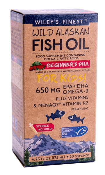 Wiley's Finest - Wild Alaskan Fish Oil Beginner's DHA (125ml/50 Servings)