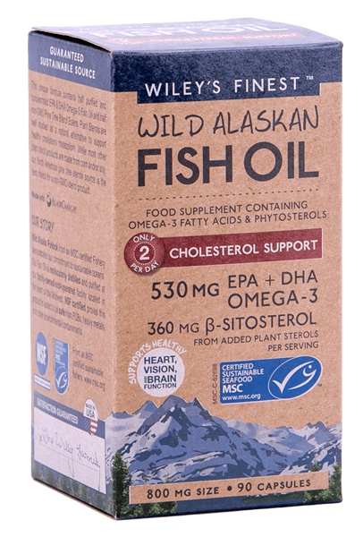 Wiley's Finest - Wild Alaskan Fish Oil Cholesterol Support (90 Caps)