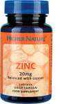 Higher Nature - Zinc 20mg with copper VV  Tabs (90)