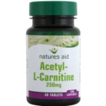 Acetyl - L - Carnitine - 250mg V (30 Tabs)