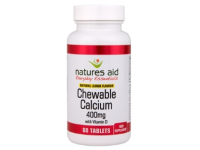 Calcium (Chewable) - 400mg (60 Tablets)