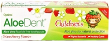 AloeDent Cool Strawberry Children's Toothpaste + Co Q 10, Tea Tree & Silica - 50ml