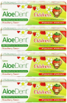 AloeDent Cool Strawberry Children's Toothpaste + Co Q 10, Tea Tree & Silica - 50ml (4 pack)