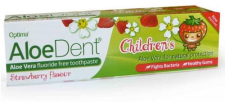 AloeDent Cool Strawberry Children's Toothpaste + Co Q 10, Tea Tree & Silica - 50ml ( 4 pack )