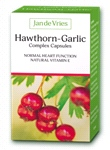Jan de Vries Hawthorn-Garlic Complex Capsules (90 Caps) - maintain normal heart function
