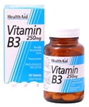 Vitamin B3 (Niacinamide) 250mg - Prolonged Release (90 tablets)