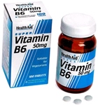 Vitamin B6 (Pyridoxine HCl) 50mg (100 tablets)