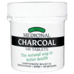 Charcoal Tablets (100 tabs) -FOR THE RELIEF OF INDIGESTION, WIND AND HEARTBURN