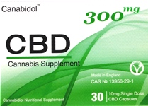 Canabidol CBD Cannabis Supplement Capsules 300mg (30 Caps)