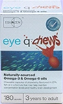 Eye q chews (180 caps )- chewable capsules strawberry -flavoured for eye & brain fuction