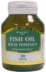 Fish Oil: Omega 3 -1000mg Fish Oil/550mg EPA/DHA 30 caps