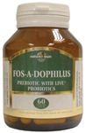 Fos-a-dophilus: 6 strains of freindly bacteria (With FOS) 60 veg caps