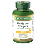 Gentle Iron Complex with Vitamins B12 & C (100 Caps)