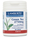 Green Tea 2750mg (providing 250mg catechins)- 60 tabs