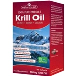 Krill Oil 500mg ( 60 softgels ) - For Heart, Brain & Vision