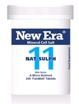 Nat Sulph No. 11 ( 240 Tablets ) For Water infiltrations; liverish symptoms; influenza; bilious attacks.
