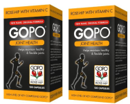 GOPO   Rosehip extract ...750mg... (120 CAPS) - TWO PACKS - for  Arthritis & Joint  Health