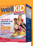 WellKid Smart Multivitamins CHEWABLE ( 30 TABS) - Great Tasting- Raspberry & Lemon Flavour