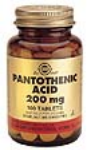 Pantothenic Acid 200mg (100 Tabs)