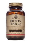 Biotin 5000 ug (100 Vegetable Capsules)