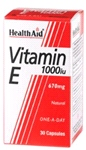 Vitamin E 1000iu Natural (30 Caps)